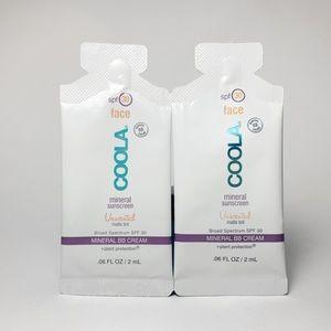 2 Coola Mineral Sunscreen Unscented Matte Tint SPF